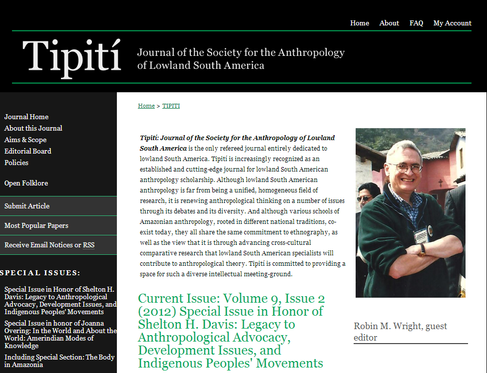 Tipití- Journal of the Society for the Anthropology of Lowland South America - Trinity University